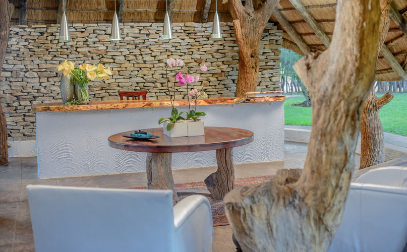 Karongwe river lodge reception area